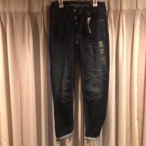 AEO denim Tomgirl jeans. Stretch size 0. Reg.